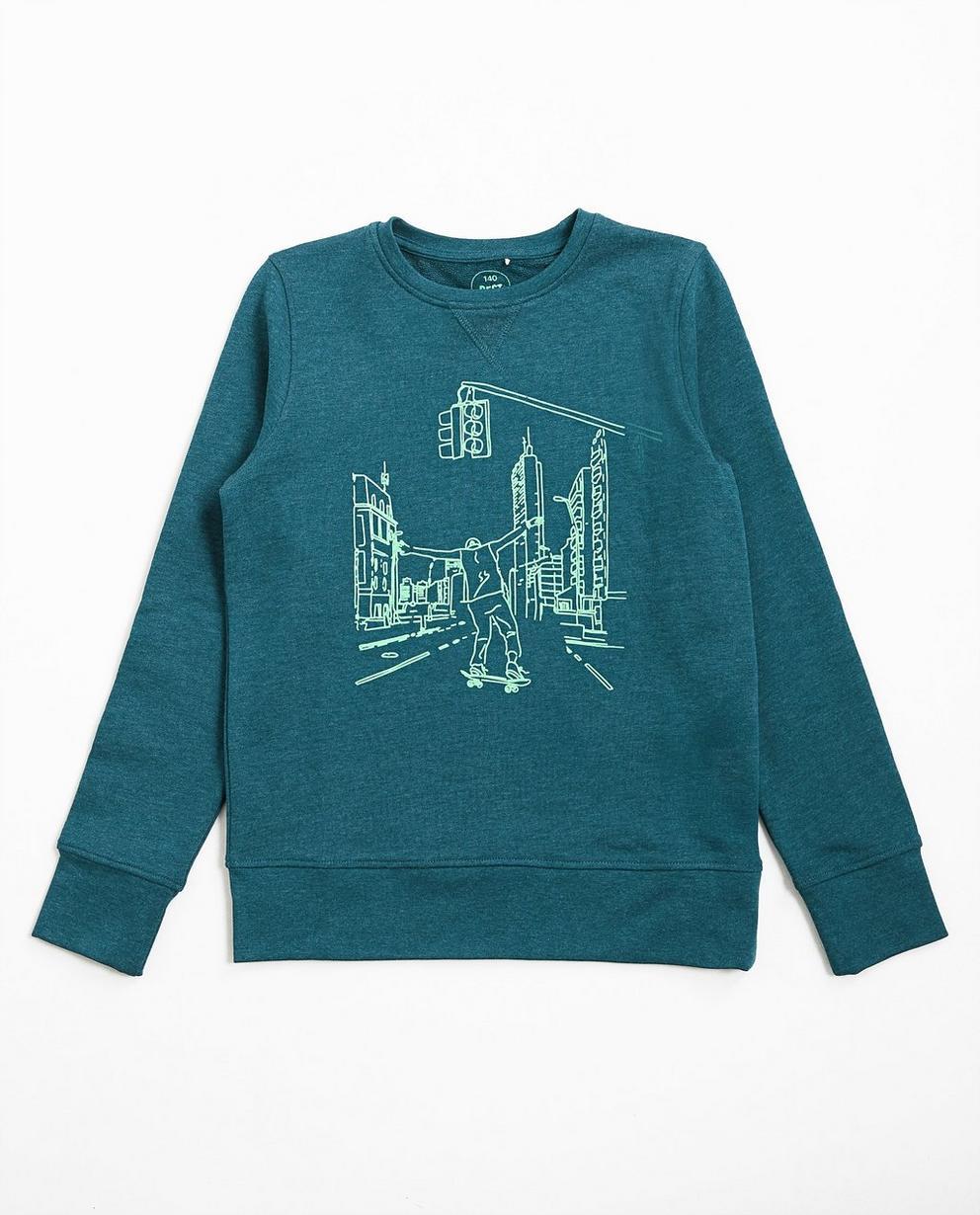 Sweater met fluoprint - null - Besties